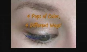 4 Pops of Color, 4 Different Ways!