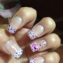 polka dots cute bow nails