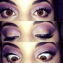 Purple eyes! Follow me on Instagram @cherielramirez