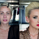 Before-After shot of my makeup work.