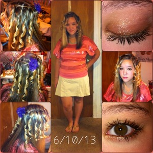 Last week of school for my little sisters freshman year so we are having fun this week. Love my Barbie! Styled and dressed by me.