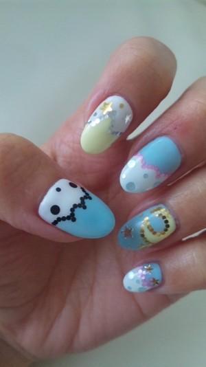 official sanrio nails Kiki&Lala