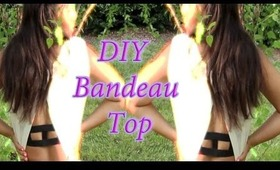 EASY DIY caged back bandeau top- inspired by Brandy Melville