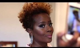 Natural soft Cut Crease Makeup/Full face tutorial| dark skin makeup | Darbiedaymua