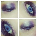 Purple& Pink Shimmer Eyes.