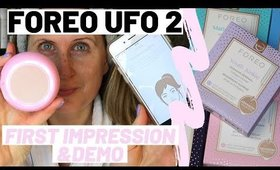 FOREO UFO 2 SMART MASK DEVICE REVIEW, FIRST IMPRESSION AND DEMO