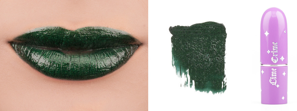 Green Lipstick: Lime Crime Serpentina