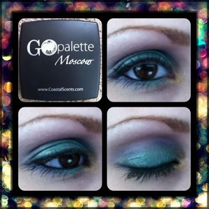 purple, green, and gold look using coastal scents go palette in Moscow.