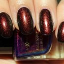 Max Factor Fantasy Fire (layered over China Glaze Liquid Leather)