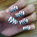 Christmas Zebra Nails