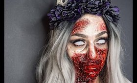 ZOMBIE QUEEN | ONE BRAND MAKEUP TUTORIAL NYX | BEAUTY BY RAWDAA