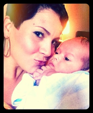 My Nephew  & I. I have Inglot Eyeshadow on and Salsa by NYX on the lips ..