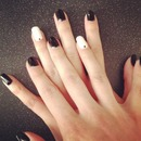 Black & White Gel Nails