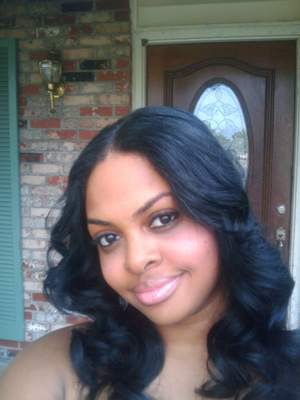Another sew -in same hair Virgin Remi in the blue box will put a pic of up it soon.....straight hair curled it my self a little secret I have to add more body to your hair!!!