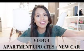 VLOG # 4: APARTMENT UPDATES + GETTING A NEW CAR