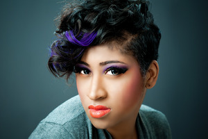 Cut, style and make-up by Tanya J.