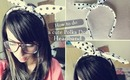 DIY: Cute Polka Dot Bow Headband
