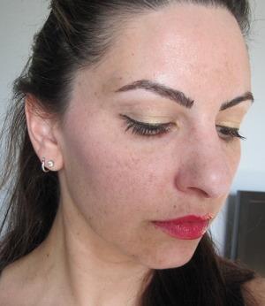 "MAC ""   ""paint pot, Maybelline STiletto liner & Greatlash mascara, Chanel Narcisse blush & Dior #754"