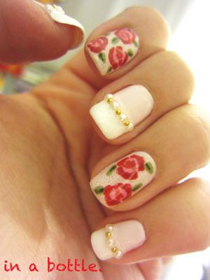 Roses nails @gemsinabottle