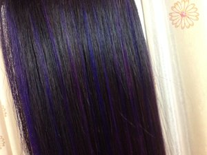 I'm done with coloring my hair. 😍  In love with this blue purple color. Enjoy with my looks.