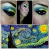 Starry night inspired by Vincent Van Gogh
