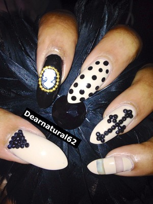 Dearnatural62 nails tonight, check me out on YouTube.com/Dearnatural62