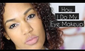 How I Do My Eye Makeup BLINDLY | Cat Eye and Everyday Makeup with Stargardt's Disease ◌ alishainc