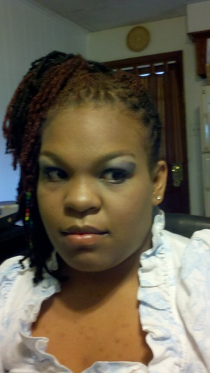 prom makeup, foundation B>E in tan, primer B>Efondation priner, shadow hard candy and milani, shadow base NYx eyeshadow base in skin tone, cheecks cover girl bronzer, lips--- i dont remeber hahaha Prom was in may.