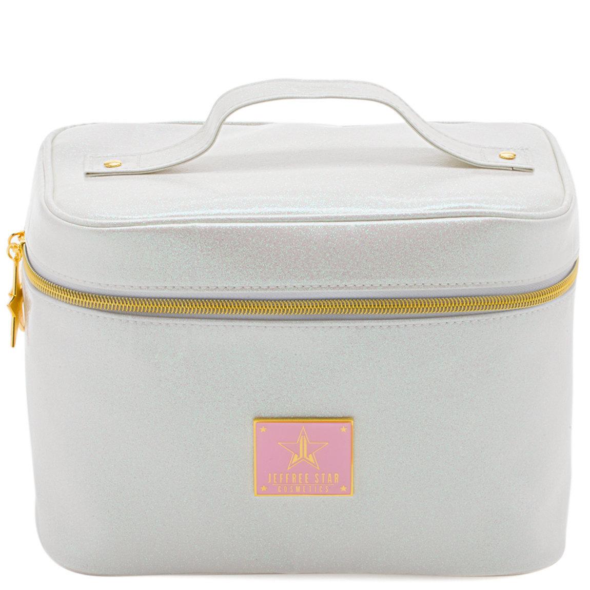 Jeffree Star Cosmetics Travel Makeup Bag Glitter White product smear.