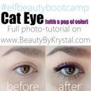 Cat eye with a pop of color