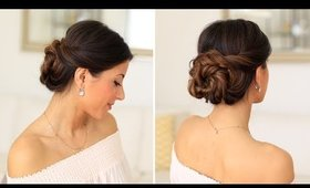 2 Minute Elegant Bun Hair Tutorial | Luxy Hair