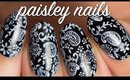 Black & White Paisley Nails | Lacquerstyle