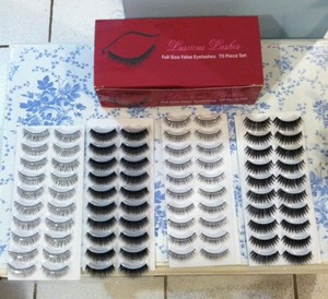 If your like me and you love wearing fake eyelashes you might want to buy them in a bundle because it does get expensive! I bought this pack that brings about 70 pairs & in different styles for under $20 at BundleMonster.com