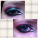 Pink Blue White And Black Crease