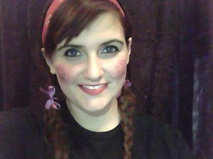 haha, I had pigtails in and I just had to! XD lol, just a simple, cute makeup (someone said it was a tad creepy but to each his own i guess) so ENJOY