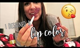 I DESIGNED MY OWN LIP COLOR | Vlogmas Day 1