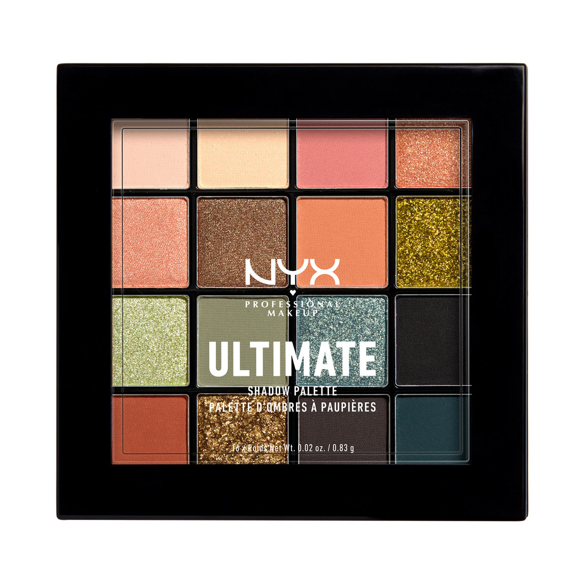 NYX Professional Makeup Ultimate Shadow Palette product swatch.