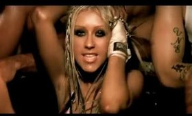 Christina Aguilera - Dirrty Music Video Inspired Makeup - Sexy Black Glossy Smokey Eye