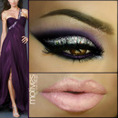 Smokey in purple & glitter