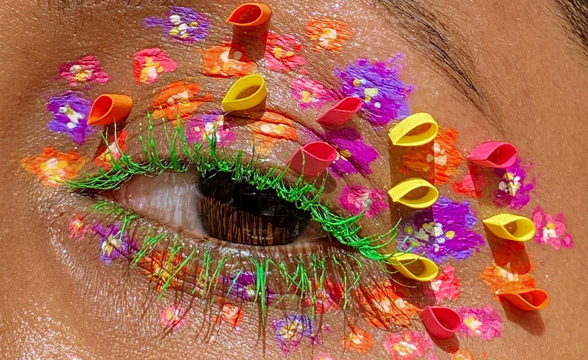 Photo: Lavanya Wiles | Paper quilling inspired eye makeup