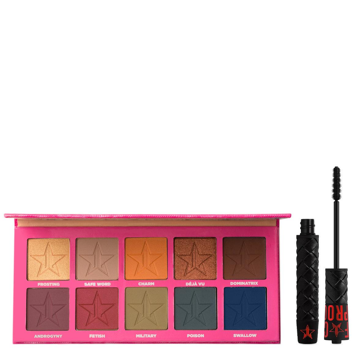 Jeffree Star Cosmetics Androgyny Eyeshadow Palette + F*ck Proof Mascara alternative view 1 - product swatch.