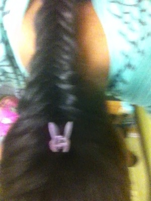 Fish tail braid with a butterfly