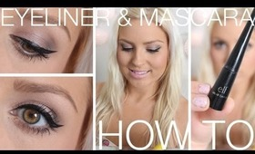 Beginners Eyeliner, Mascara, Eyebrows ♡ How To Wing Your Eyeliner
