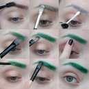 How To Green Glitter Brows