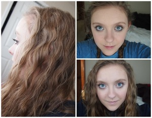 This is how I usually style my hair and my normal makeup. It is very sweet and innocent.