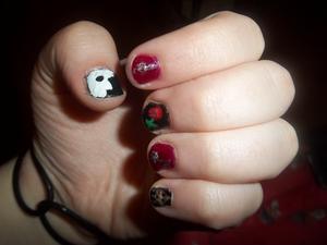 Phantom of the Opera nails :D