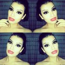 Smokey eyes with Red lips
