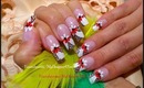 Black, White & Red Floral French Nail Art Design Tutorial - ♥ MyDesigns4You ♥