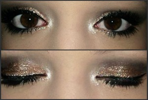 New Years Eve/Special Occasion Look.  - I personally created this look to wear to my boyfriend's birhday dinner. I will be wearing false lashes (Wispies in black by Ardell) with this look as well. (: