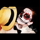 Men's dia de Los muertos (Day of the dead) face painting tutorial
